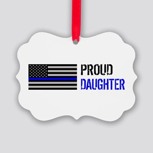 Proud Police Daughter Picture Ornament