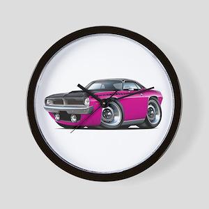 1970 AAR Cuda Pink Car Wall Clock