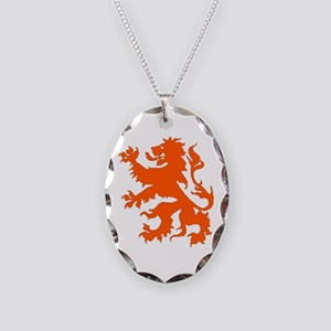 Dutch Lion Necklace Oval Charm