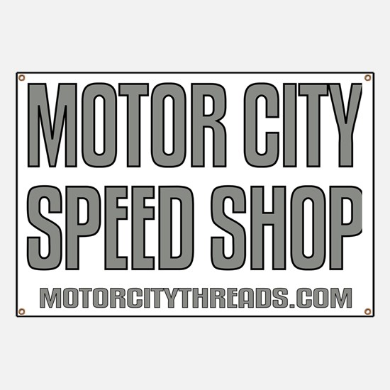 Motor City Speed Shop Logo Banner