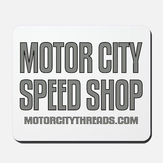 Motor City Speed Shop Logo Mousepad