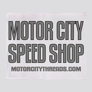 Motor City Speed Shop Logo Throw Blanket