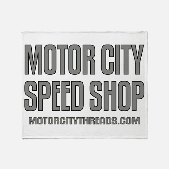 Motor City Speed Shop Logo Throw Blanket