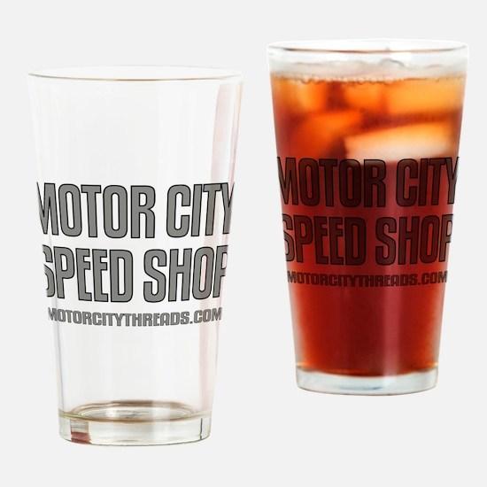 Motor City Speed Shop Logo Drinking Glass