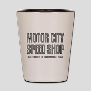 Motor City Speed Shop Logo Shot Glass