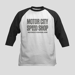 Motor City Speed Shop Logo Kids Baseball Jersey
