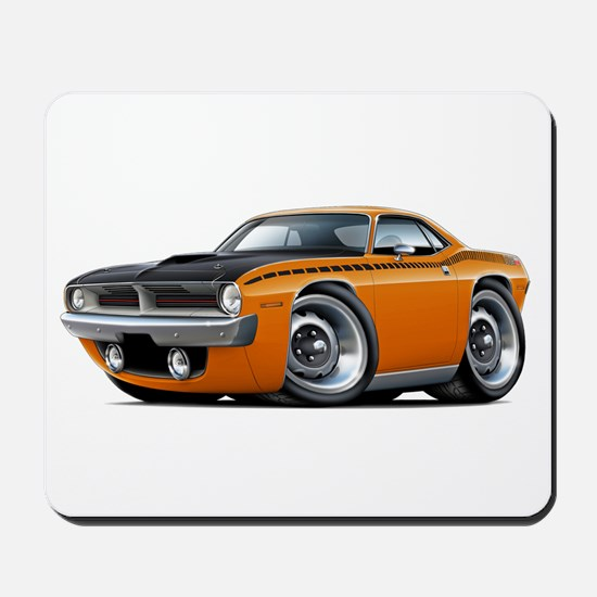 1970 AAR Cuda Orange Car Mousepad
