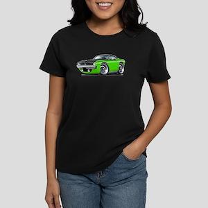 1970 AAR Cuda Lime-Black Car Women's Dark T-Shirt