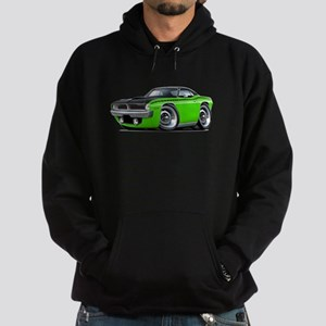 1970 AAR Cuda Lime-Black Car Hoodie (dark)