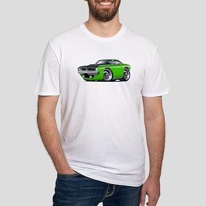 1970 AAR Cuda Lime Car Fitted T-Shirt
