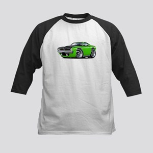 1970 AAR Cuda Lime Car Kids Baseball Jersey