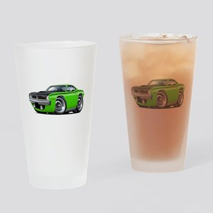 1970 AAR Cuda Lime Car Drinking Glass