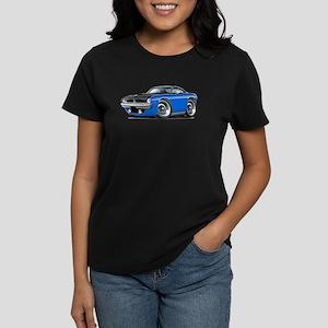 1970 AAR Cuda Blue-Black Car Women's Dark T-Shirt
