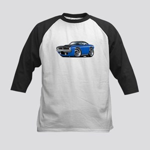1970 AAR Cuda Blue-Black Car Kids Baseball Jersey