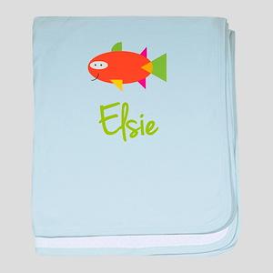Elsie is a Big Fish baby blanket