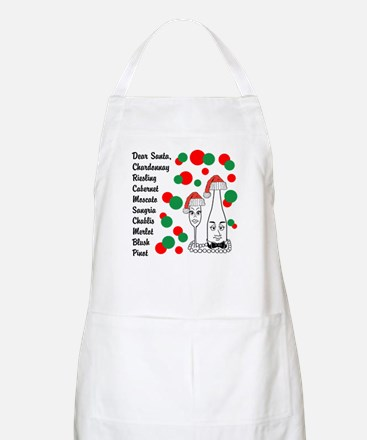 Christmas Wine List Apron