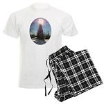 Christmas Peace Men's Light Pajamas