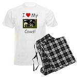 Love My Cows Men's Light Pajamas