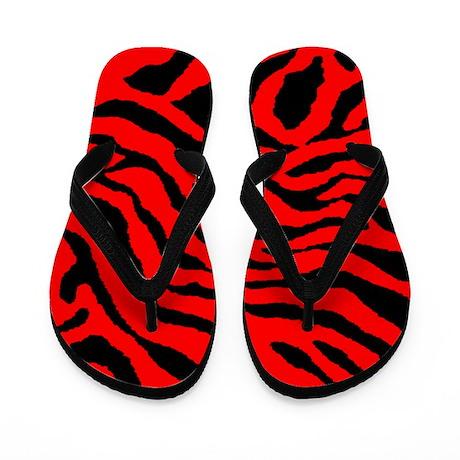 Corey Tiger 80s Tiger Stripe Flip Flops
