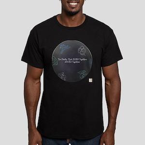 BE Kicking Men's Fitted T-Shirt (dark)