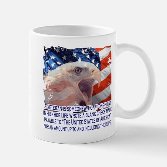 Veteran Blank Check Mug