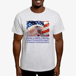 Veteran Blank Check Light T-Shirt