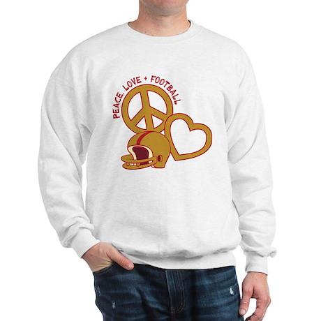 Peace, Love, Football Sweatshirt