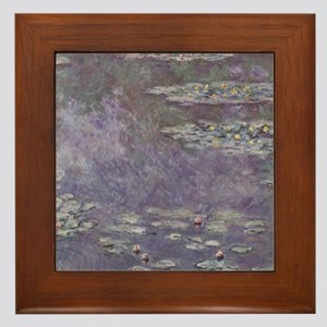 Monet Waterlilies Framed Tile