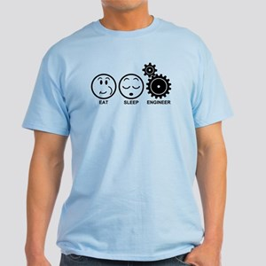 Eat Sleep Engineer Light T-Shirt