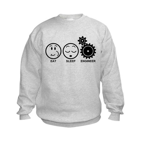 Eat Sleep Engineer Kids Sweatshirt