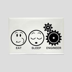 Eat Sleep Engineer Rectangle Magnet