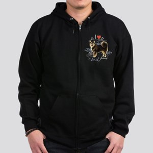 Finnish Lapphund Zip Hoodie (dark)