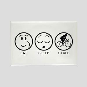 Eat Sleep Cycle (Male) Rectangle Magnet
