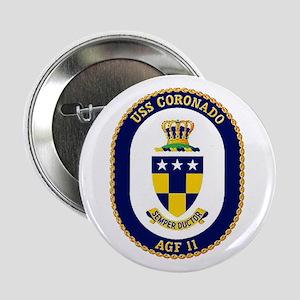 """USS Coronado AGF 11 2.25"""" Button"""
