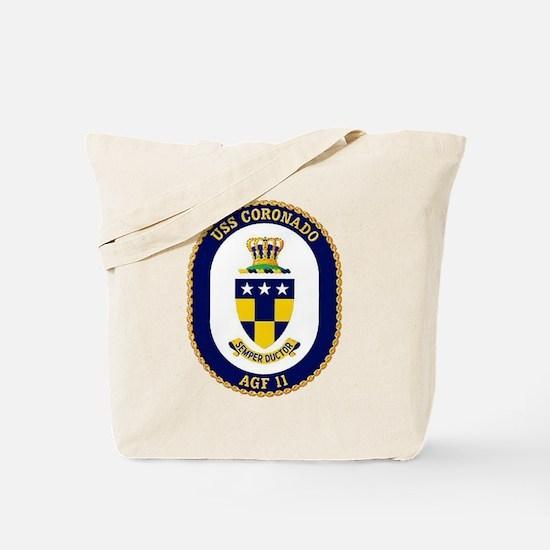 USS Coronado AGF 11 Tote Bag