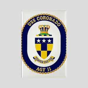 USS Coronado AGF 11 Rectangle Magnet