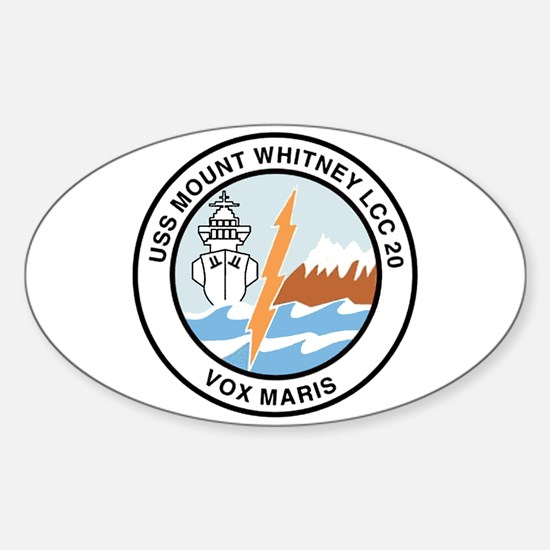 USS Mount Whitney LCC 20 Oval Decal