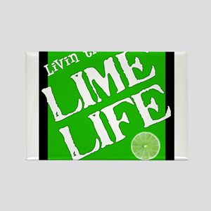 Lime Life Rectangle Magnet