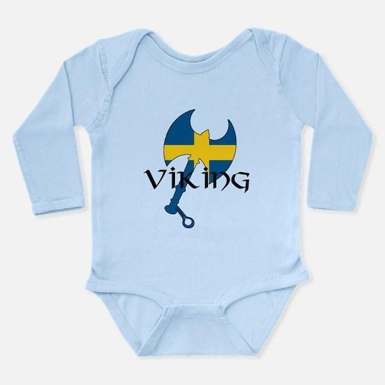 Swedish Viking Axe Long Sleeve Infant Bodysuit