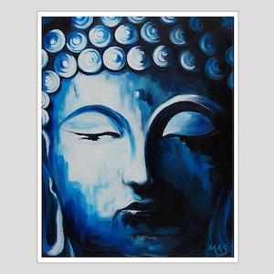 Third Eye: Buddha Blue Zen Small Poster