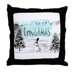 Jmcks Merry Christmas Throw Pillow