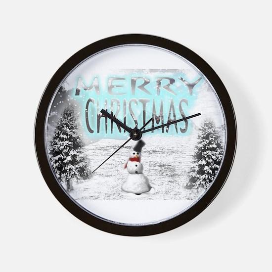 Jmcks Merry Christmas Wall Clock