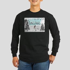 Jmcks Merry Christmas Long Sleeve Dark T-Shirt