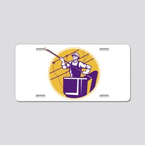 telephone line worker Aluminum License Plate