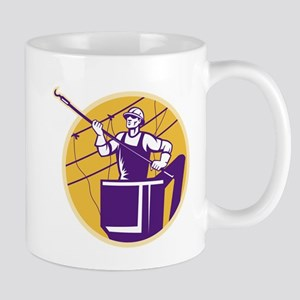 telephone line worker Mug