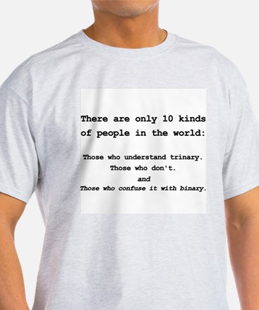 10 Kinds Of People - Trinary T-Shirt