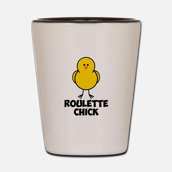 Roulette Chick Shot Glass