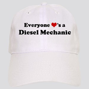 Loves a Diesel Mechanic Cap