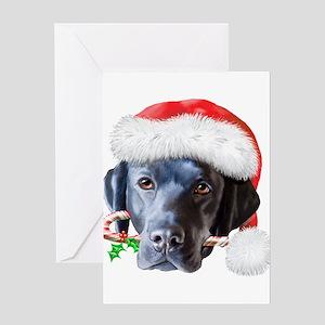 Black Lab Christmas (c) Greeting Card