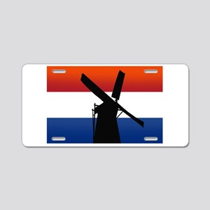 Dutch Windmill Flag Aluminum License Plate
